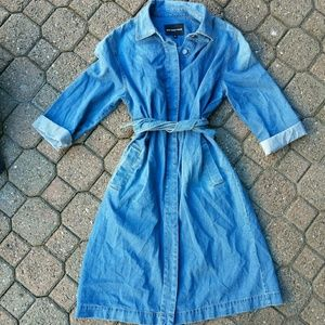 who what where denim shirt dress belt sleeves